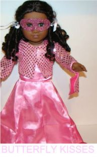 Doll Clothes Fit American Girl Marie Grace Cecile Pink Satin Gown