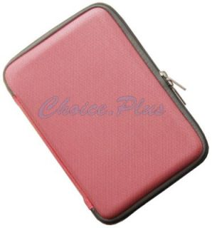 Luxury Hard Pink Cover Case Eva Pouch Zipper for  Kindle Fire 7