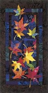 Drifters Autumn Fall Leaf Leaves Bee Creative Quilt Pattern Foundation