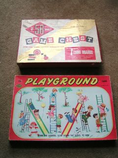 TRADITIONAL FAMILY BOARD GAMES 1950S THE PLAYGROUND GAME GAME CHEST