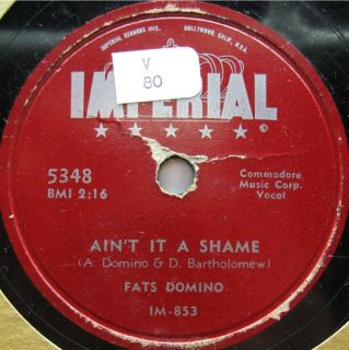 Fats Domino Imperial 5348 AinT It A Shame R B Rock Pop