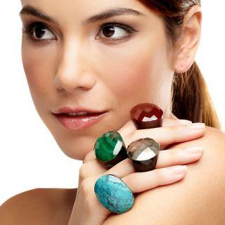 Jewelry Rings Gemstone Deb Guyot Designs Faceted East/West Oval