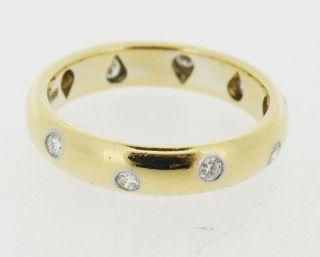 Tiffany Co Etoile 18K Platinum Diamond Band Ring Size 6 5