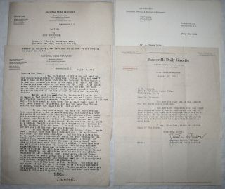 Signed Letters Calvin Coolidge Related Paper Lot Vtg Old Antique
