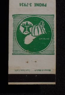 1950s Matchbook Zeke & Everetts Texaco Gas 10th & G Sts. Green Stamps