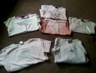 300 Lot of 6 Genuine Pink Harley Davidson Shirts Sz L