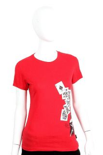 Emily The Strange Medium Play by Your Own Rules Red T Shirt Tee Cards