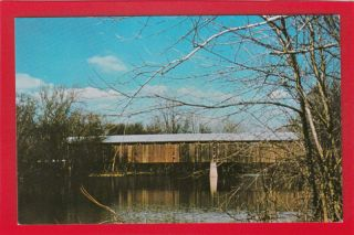 OH318 Fayette County Covered Bridge Pancoast Ohio Postcard