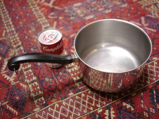 Vintage FARBERWARE 3 Qt Sauce Pan Pot Stainless Steel Aluminum Clad