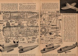 20 P 47 Thunderbolt Model Plane Plans aaf Fighter Gas