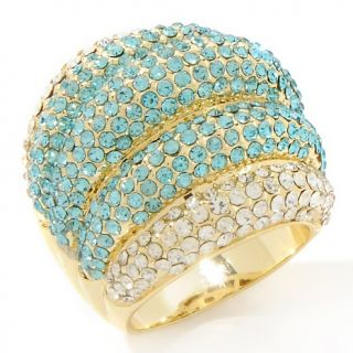 181 748 joan boyce queen of glamour tonal blue crystal ribbed ring