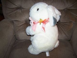 Commonwealth 14 Soft Plush White Bunny w Pink Baby 90