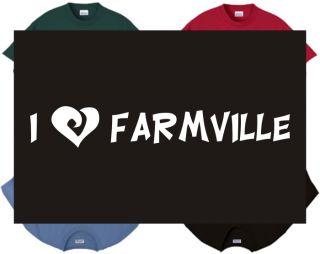 Shirt Tank I Love Farmville Gaming Internet Farming