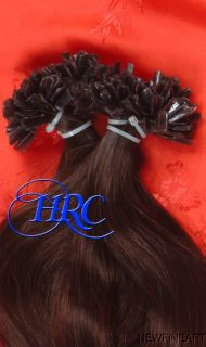 Tip 20 Pre Bonded Dark Brown Hair Extension European Glued