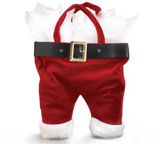 + Burton Velour Santa Claus Pants   Christmas Gift Bag / Tote   3pk