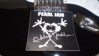 PEARL JAM signed GUITAR Eddie Vedder cd lp record