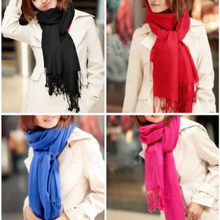Korea Women Long Scarf Shawl Large Warm Soft Wrap Tassels New