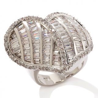 173 914 justine simmons jewelry 11 70ct cz silvertone pave heart ring