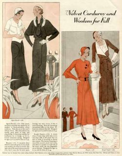 Woolens for Fall in Illustrated 1931 Ladies Fashions Article