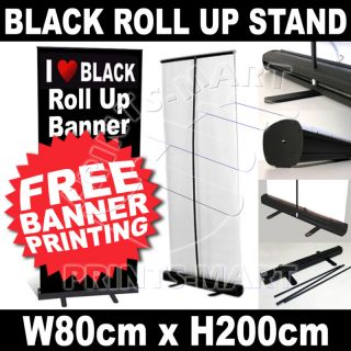 Black Exhibition Display Roll Up Banner Stand Pull Up Banner Stand