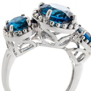 Jewelry Rings Gemstone Rarities 4.25ct London Blue Topaz 3 Stone