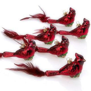 177 360 winter lane winter lane set of 6 cardinal bird ornaments note