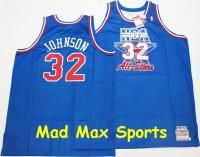 Magic Johnson Auto Los Angeles Lakers All Star Mitchell and Ness