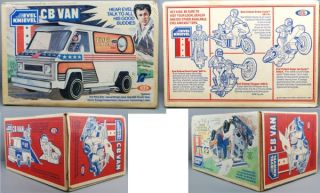 evel knievel 1977 ideal cb van sealed all orig rare
