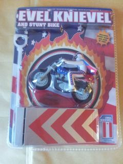 EVEL KNIEVEL STUNT BIKE AND RAMP WITH RING OF FIRE NEW SEALED