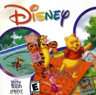 Pooh Print Studio PC CD Kids Create Favorite Character Items