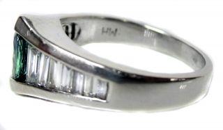 14k Alexandrite Diamond White Gold MH Ring Wedding Engagement Promise