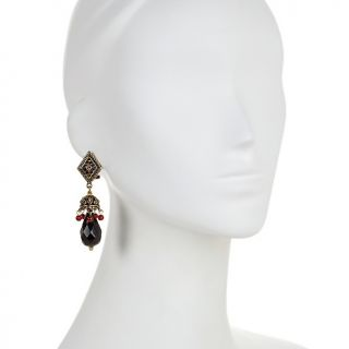 211 683 heidi daus heidi daus camel ot crystal accented drop earrings