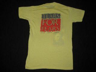 1985 Tears for Fears Vtg Tour T Shirt 80s Shout Concert