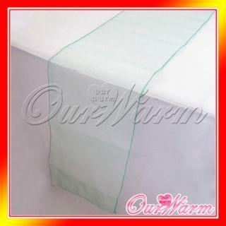 Mint Green Aqua Green Organza Table Runner 12x108 Wedding Party