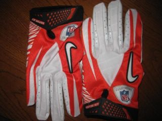 Vapor Jet Football Gloves NFL Orange / White XXXL 3 Extra Large Carbon