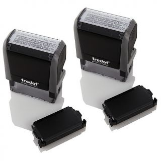 205 904 trodat 2 pack of self inking id protection stamps note