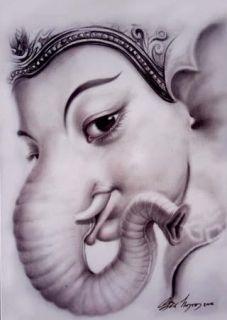 Tiny Lord Ganesh Ganesha Pidta Hindu OM Ohm AOM God Deity Amulet