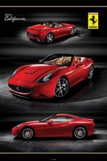 ferrari california triple action official car poster