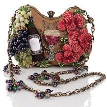 mary frances bead embellished wine evening bag $ 289 90