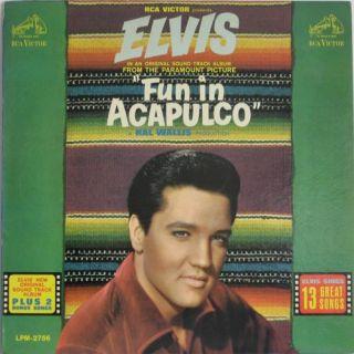 Elvis Presley Fun in Acapulco 1964 RCA LPM 2756 Mono LP Original Black