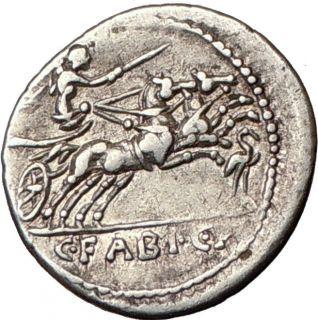 Roman Republic C Fabius C F Hadrianus Cybele Horse 102BC Ancient