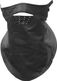 Motorcycle Biker Soft Leather Full Face Mask Bandana