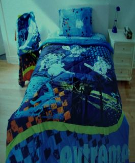 Extreme Sports Twin Size Quilt Sheets 4pc Bedding Set New