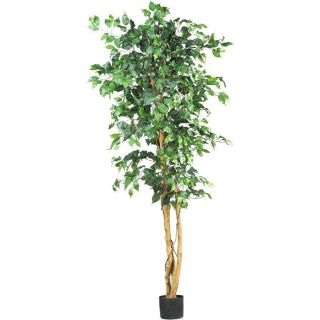 Nearly Natural 6 Ficus Silk Tree Artificial Plant Decor 1008 Leaves