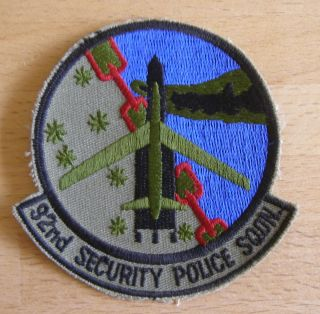 USAF 92nd Security Police Squadron Patch Fairchild AFB WA