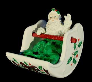 Christmas Centerpiece Holiday FERRIS WHEEL Replacement Santa Claus Car