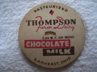 Thompson Farm Dairy s Amherst Oh Ohio Milk Bottle Cap