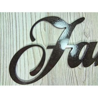 Faith Family Friends, Metal Wall Art, Home Decor, Words Letters