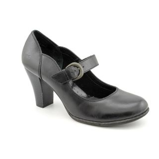 Born Faizon Womens Size 10 Black Leather Mary Janes Shoes