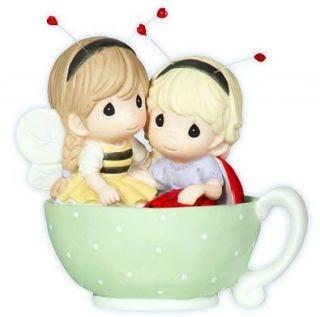 New Precious Moments Figurine Ladybug Bee Tea Mug Cup
